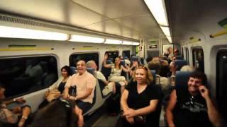 Randomly bursting into song on the Train