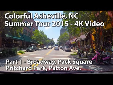 Colorful Asheville NC Summer Tour 4K - Part 1
