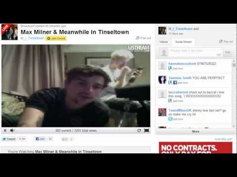 Max Milner and Meanwhile In Tinseltown - Ustream #2 - 29th May 2012