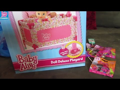 BABY ALIVE Snackin Sara + Toys R Us + Walmart Haul!Trolls toys Surprise Blind Bags+ swing + crib