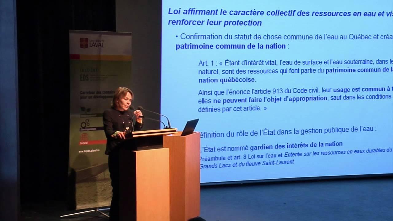 Paule Halley - L'eau, patrimoine de la nation québécoise (2/4)