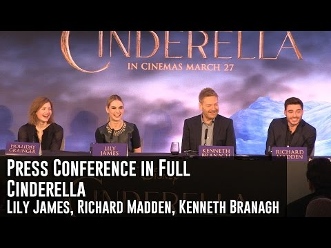 Cinderella London Press Conference in Full (Lily James, Richard Madden, Kenneth Branagh)