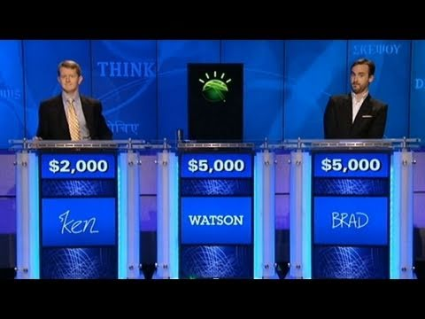 jeopardy man vs watson machine