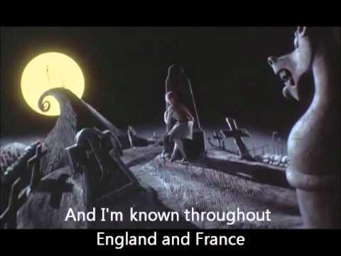 Jacks Lament - Nightmare Before Christmas with Lyrics