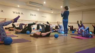 Pilates Toe Taps with Ab Curl at Soulful Fitness Lane Cove