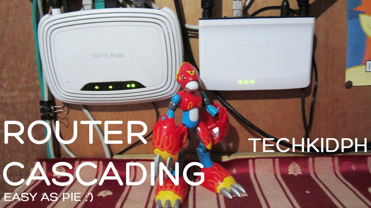 How To Cascade Two Routers Lan Or Wan Youtube Example Of Home Networking Diagram Cable Modem Wireless Router