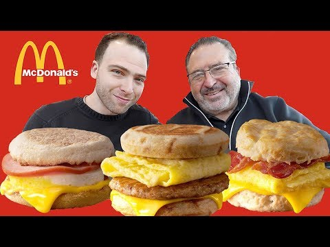 ENTIRE McDonald's BREAKFAST MENU - American Fast Food Review | Orlando, Florida