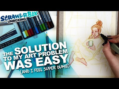 YES! FINALLY! Problem Solved. | Watercolor Pencils | Scrawlrbox Unboxing & Vlog