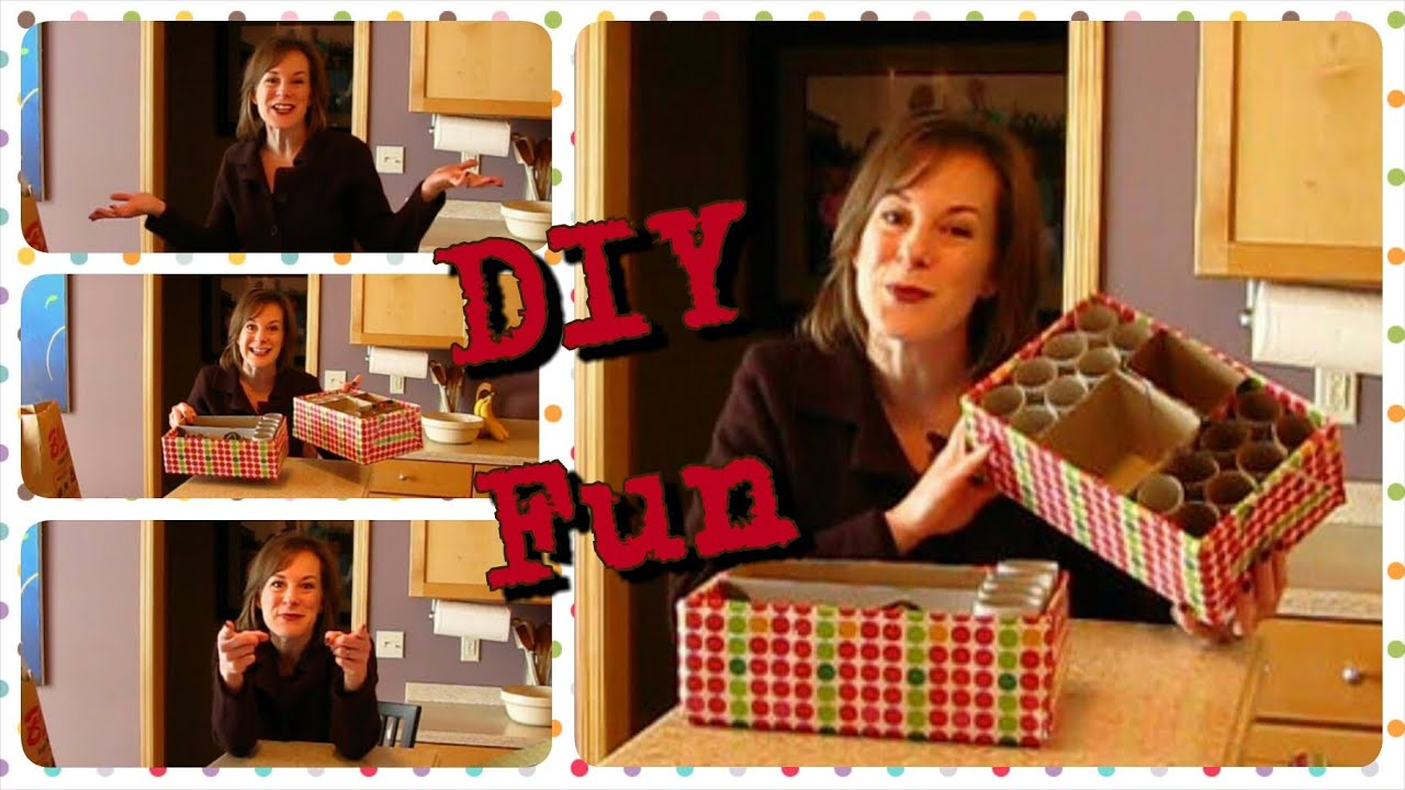 Diy shoe box organizers youtube for Cool things to make out of a shoe box