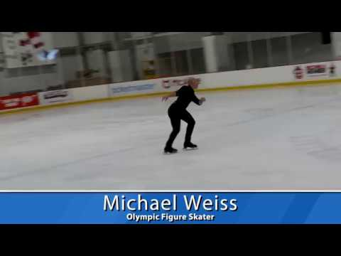 Olympic Figure Skater Michael Weiss performs at Sk8 to Elimin8 Cancer