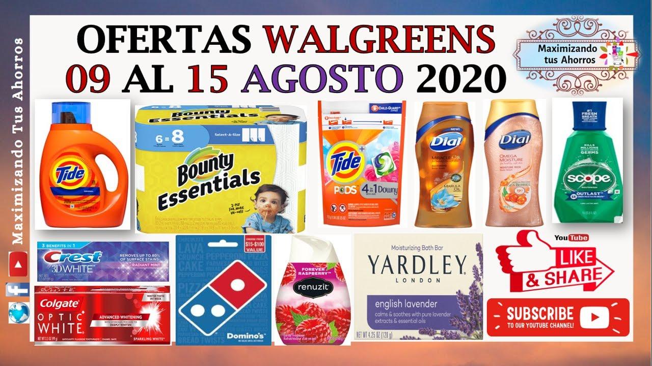 Mejores Ofertas Walgreens 👉8/9/20 al 8/15/20