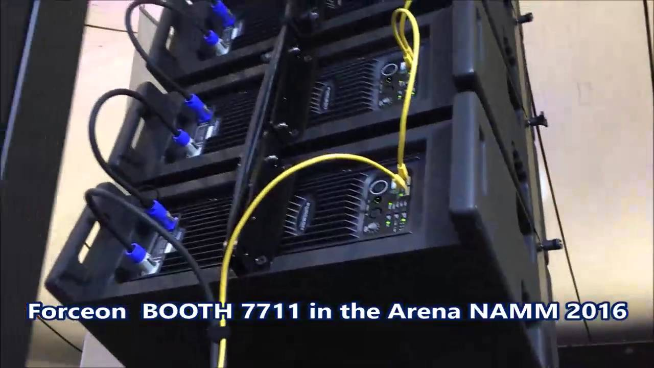 maxresdefault namm 2016 forceon line array speakers youtube
