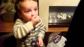 toddler eats sour sweet hilarious