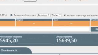 Timesheet Cloud Web App - Reporting - erste Schritte