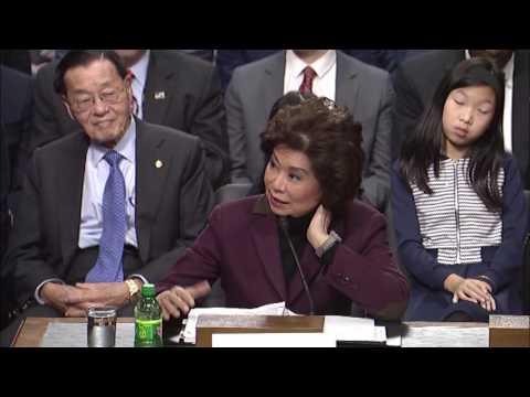 Senator Baldwin Questions Transportation Secretary Nominee Chao on Buy America
