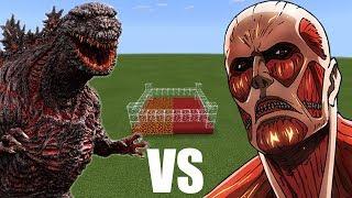 ATTACK ON TITAN vs GODZILLA in Minecraft PE