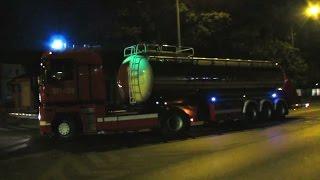 Pożar stajni w Józefowie - dojazdy sił i dowożenie wody (20.08.2015)