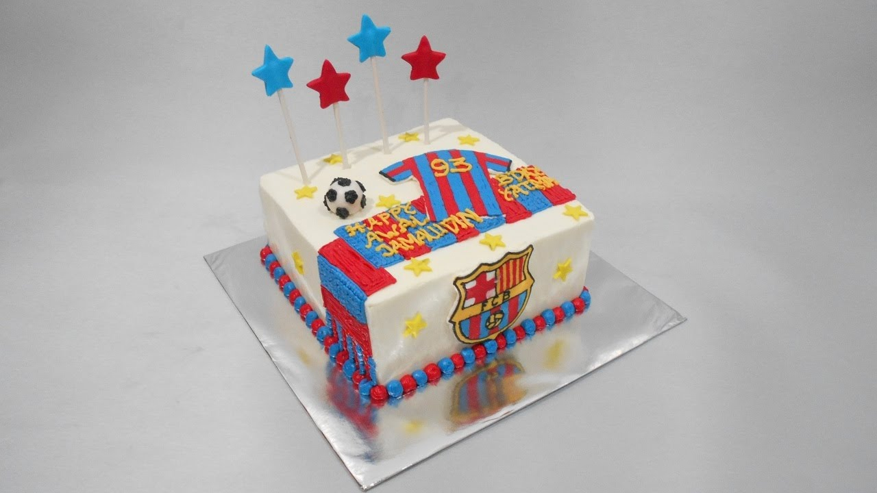 Fc Cake Design Roma : FC Barcelona Cake Designs Easy - YouTube