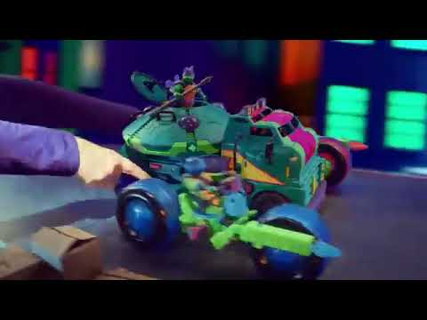 Новый Танк черепашек-ниндзя с фигуркой Майки - Rise of the TMNT (рекламный ролик)
