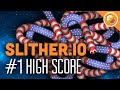 #1 LEADERBOARD HIGH SCORE! | Slither.io Funny Moments #5