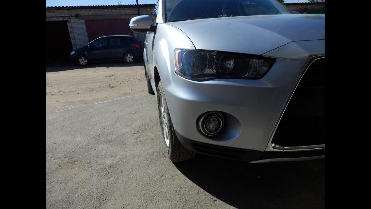 Mitsubishi Outlander XL частичный ремонт и окрас