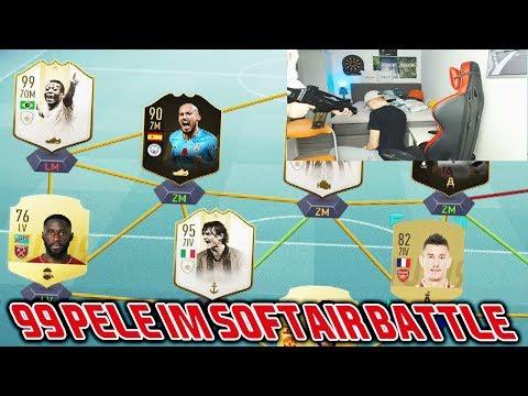 Kleiner Bruder kriegt 99 Icon PELE im SOFTAIR Bestrafungs Fut Draft Battle! - Fifa 19 Ultimate Team
