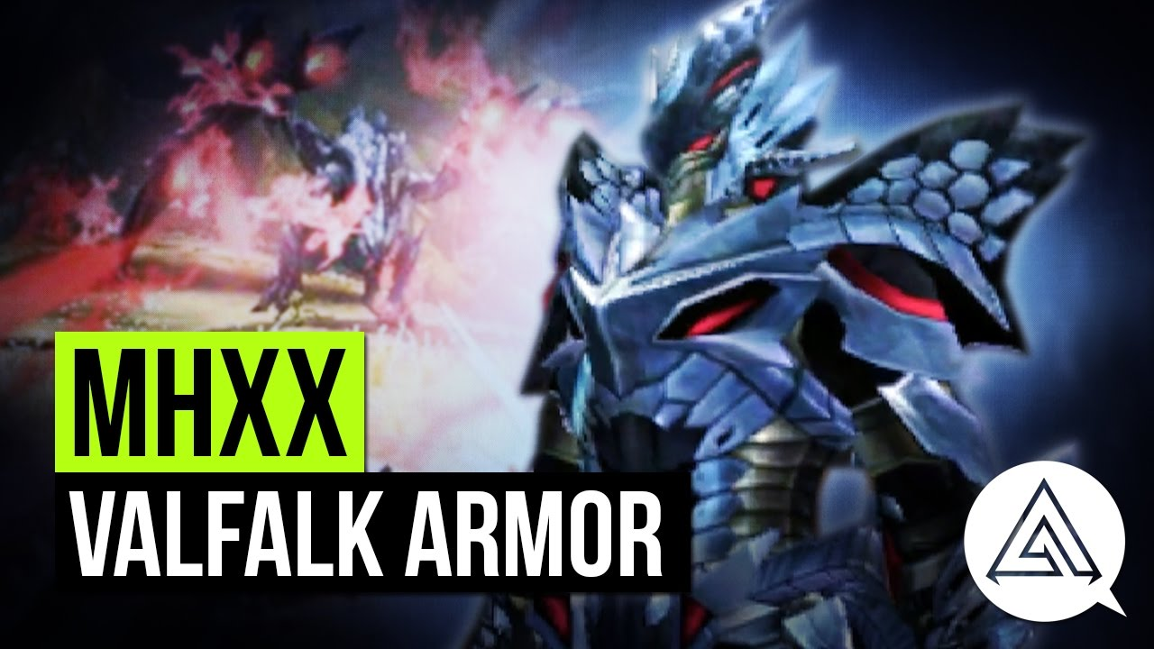Monster Hunter Xx Valfalk Blademaster Armor Showcase