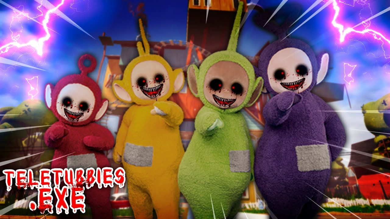 Minecraft - TELETUBBIES.EXE BULLY AND MENACE THE HELLO NEIGHBOR