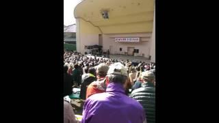 京都市の円山公園音楽堂で行われた脱原発コンサートで、ソウルフラワー...