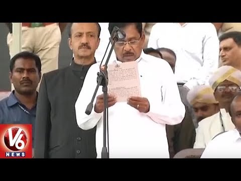Congress Leader Parameshwara Sworn in as...