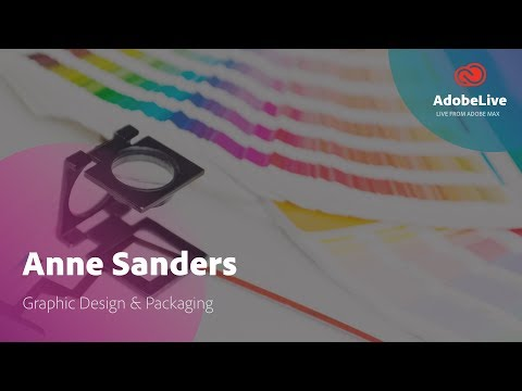 Live Graphic Design with Anne Sanders | Adobe MAX 2017