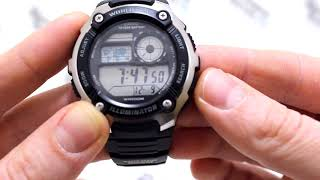 Годинник Casio Illuminator AE-2100W-1A - Інструкція, як налаштувати від PresidentWatches.Ru