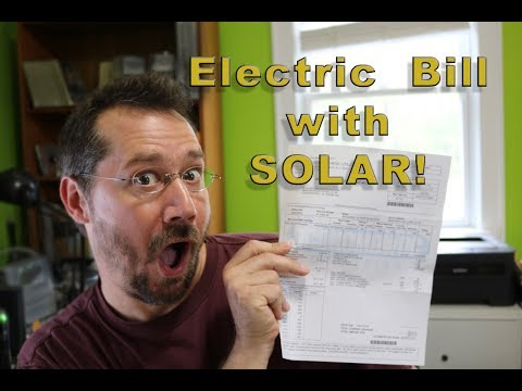Electric Bill with Solar!