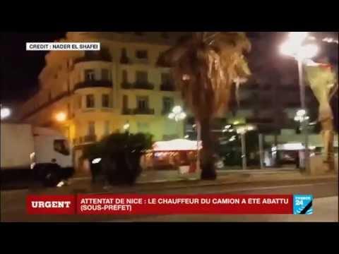 Images amateur - Le moment où la police tire sur le chauffeur du camion pour l'immobiliser - NICE