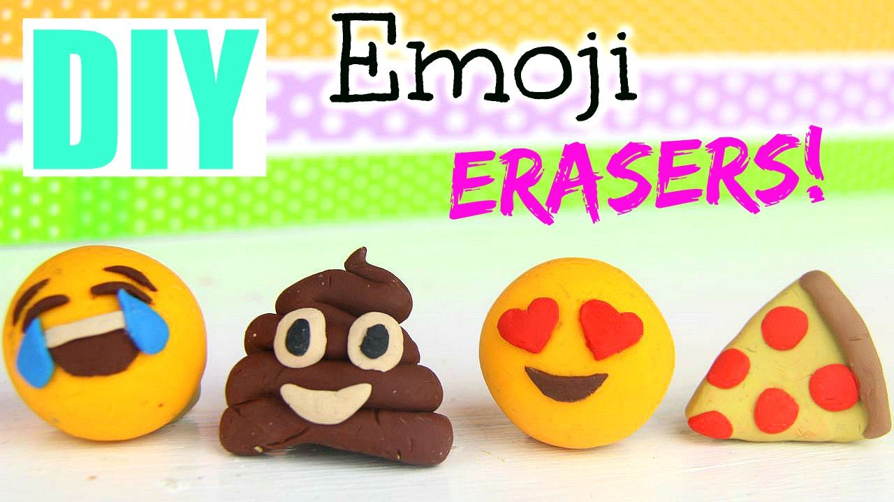 Diy Emoji Erasers Back To School 2015