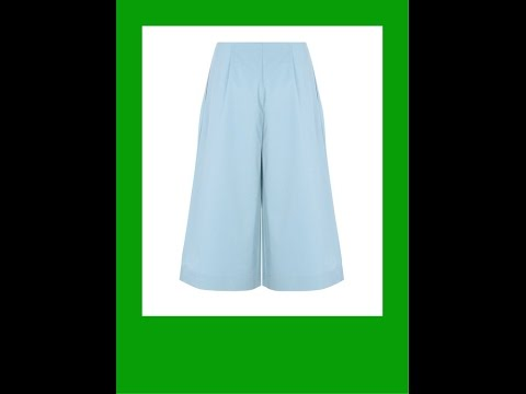 46bc3061a ES#53-Como hacer patrón falda pantalón - YouTube