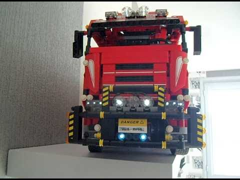 lego technic camion 8258 remorque youtube. Black Bedroom Furniture Sets. Home Design Ideas