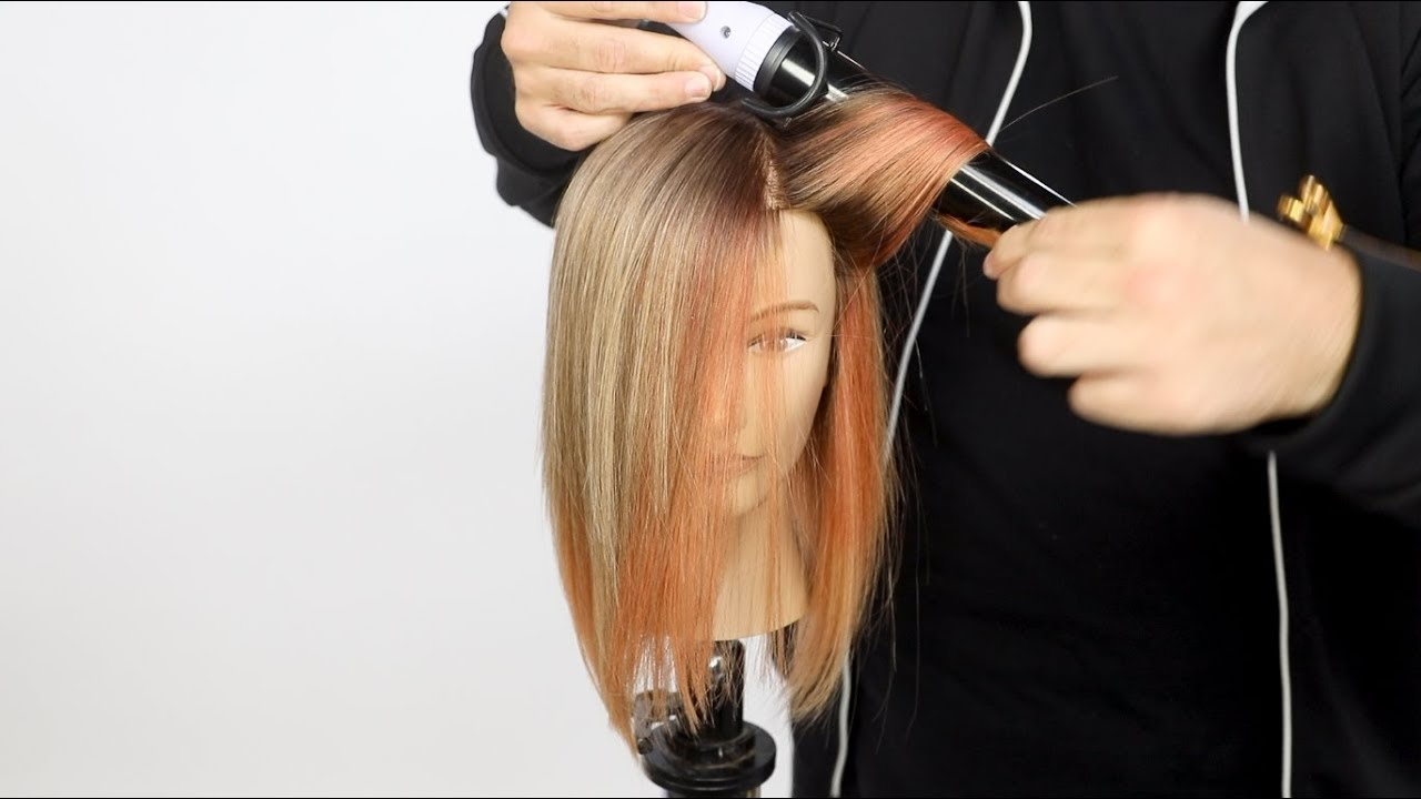 Peach and Silver Hair Color Tutorial