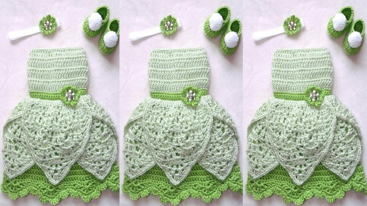 vestidos para bebes tejidos a crochet youtube. Black Bedroom Furniture Sets. Home Design Ideas