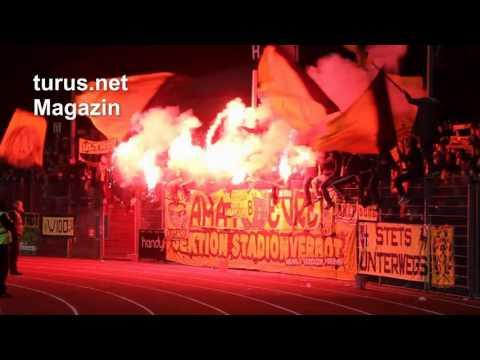 Support und Pyro BVB Fans in Wattenscheid