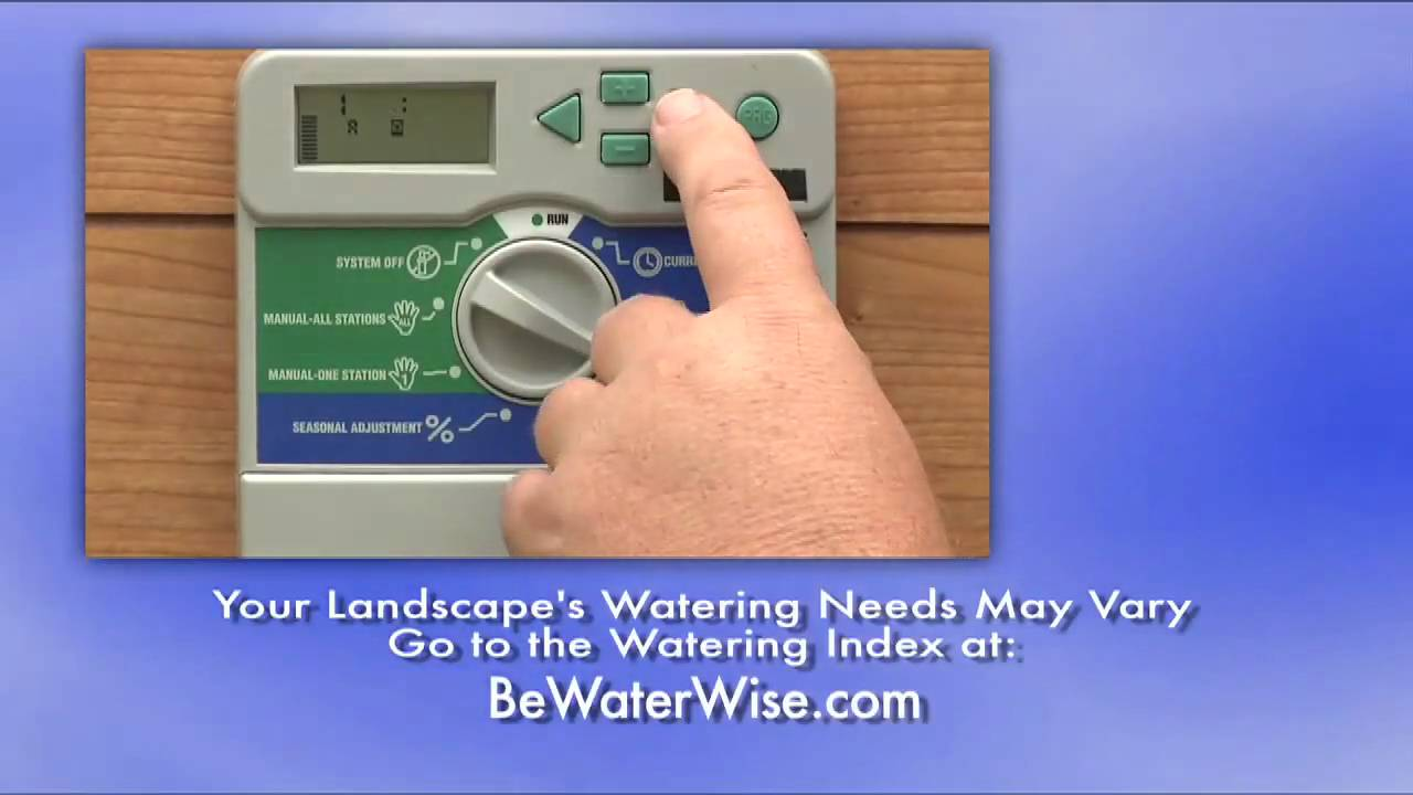 How To Program Your Irrigation Controller
