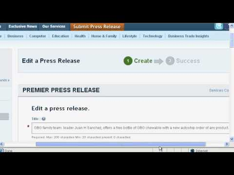 How to submit and publish a press release for free