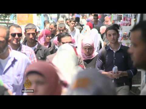 West Bank Palestinians boycott Israeli goods