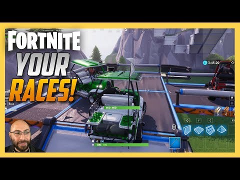 Playing your Fortnite Creative Races! | Swiftor