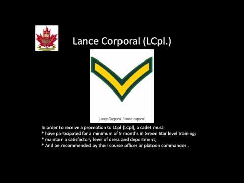 The Royal Canadian Army Cadets Ranks and Structure