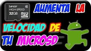 Aumenta la velocidad de tu MicroSD