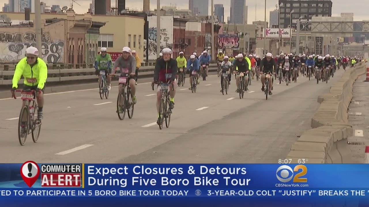Five Boro Bike Tour Brings Closures Delays
