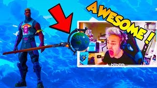 NINJA REACTS -NEW - GLOBAL AXE - BRITE GUNNER SKIN - FORTNITE EPIC - FUNNY MOMENTS