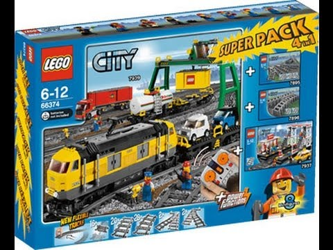 LEGO City Red Cargo Train 3677 reviewed! - YouTube