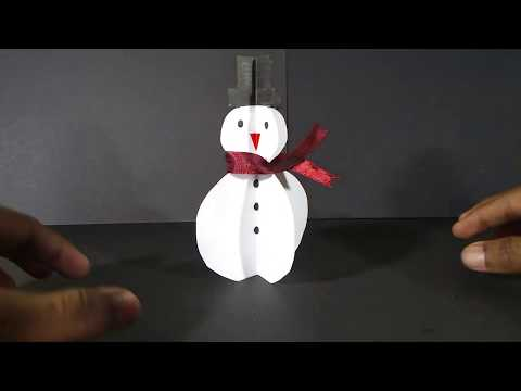 How to make Snowman with paper | Christmas Special | DIY Craft | Easy Craft